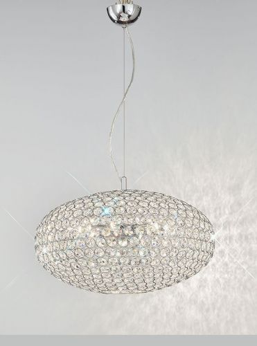 Franklite FL2273/6 Chrome Pendant Light